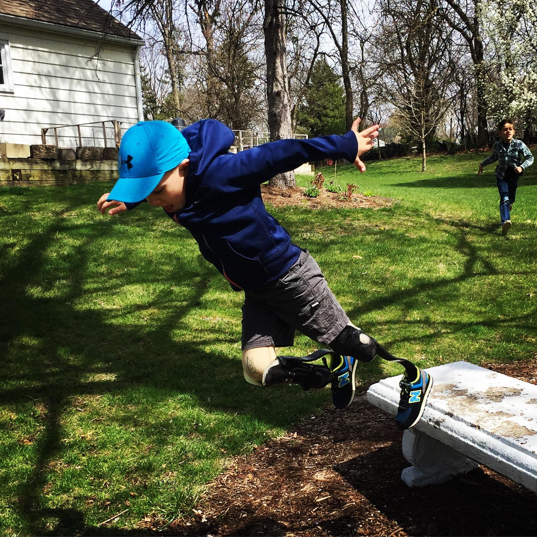 Jude jumping